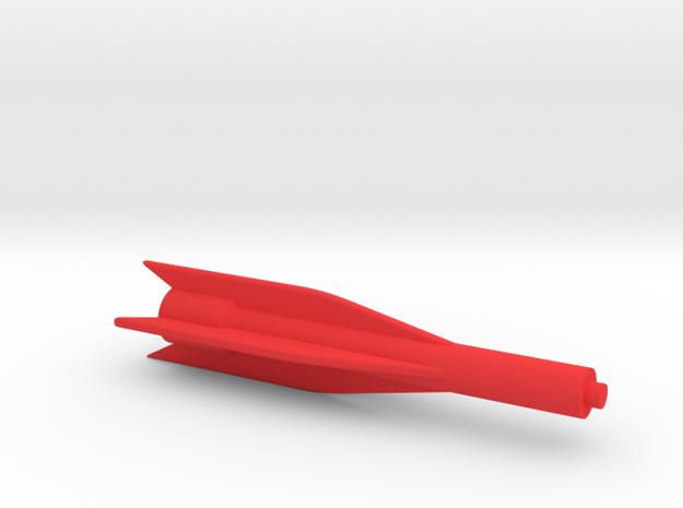 Captain Action Silver Streak 2017 -Missile Body in Red Processed Versatile Plastic