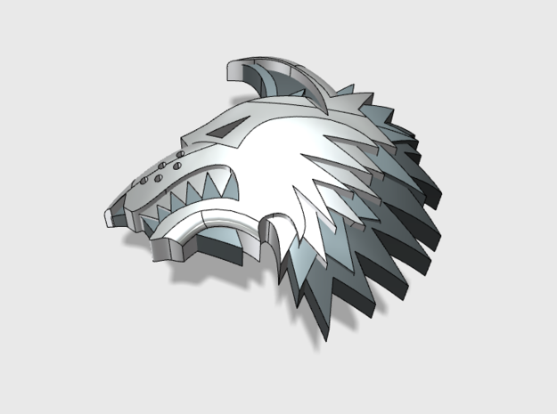 60x Shaggy Wolf - Shoulder Insignia pack
