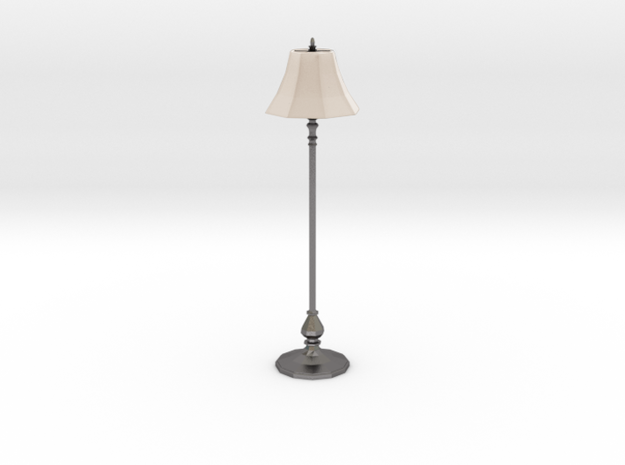 'Finer Fare' Floor Lamp 1:12 Dollhouse in White Processed Versatile Plastic