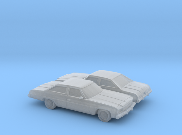 1/160 2X 1976 Chevrolet Impala Coupe in Smooth Fine Detail Plastic