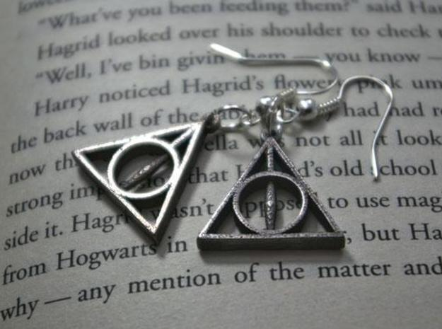 Deathly Hallows Earrings 3d printed 2
