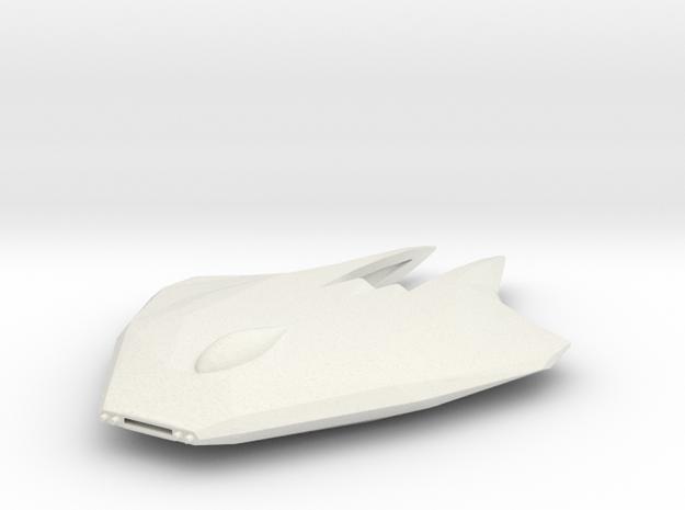 Katar-Class Fighter in White Natural Versatile Plastic