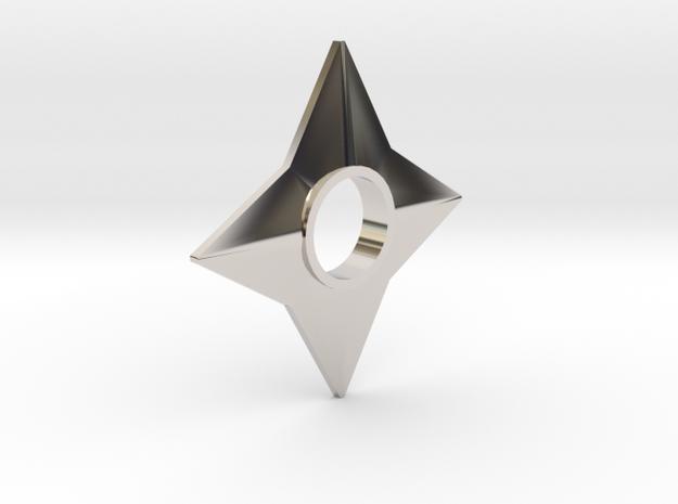 Shuriken [pendant] in Rhodium Plated