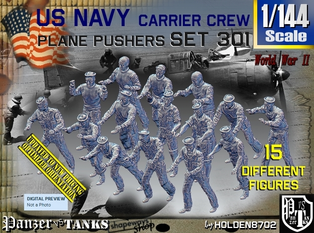 1/144 USN Carrier Deck Pushers Set301