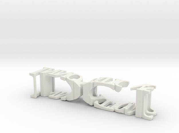 3dWordFlip: DCI/Innovations in White Natural Versatile Plastic