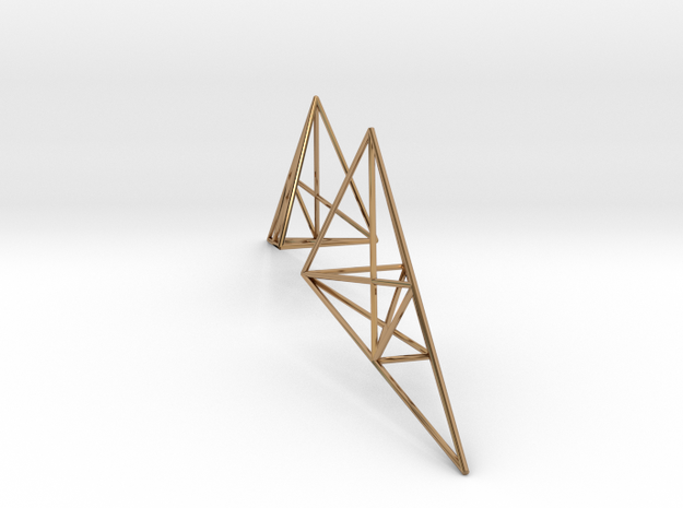 pylon earrings 2 in Polished Brass