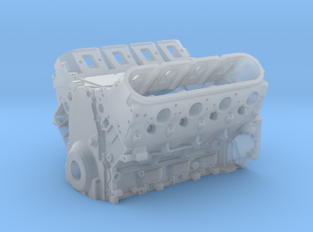 1/12th LSX Engine in Smooth Fine Detail Plastic