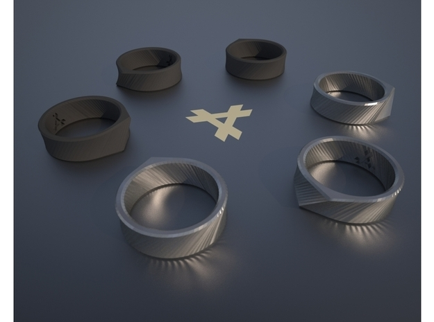 Q - Ring / Size 11 3d printed