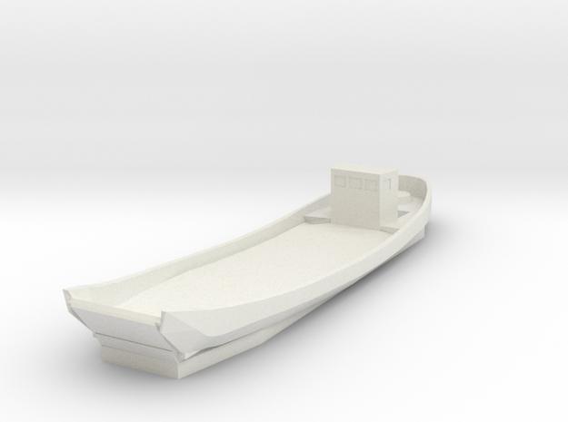 Japanese Daihatsu 1/100 Landing Boat WWII in White Natural Versatile Plastic