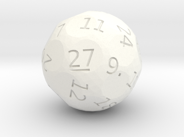 d27 oddball die in White Strong & Flexible Polished