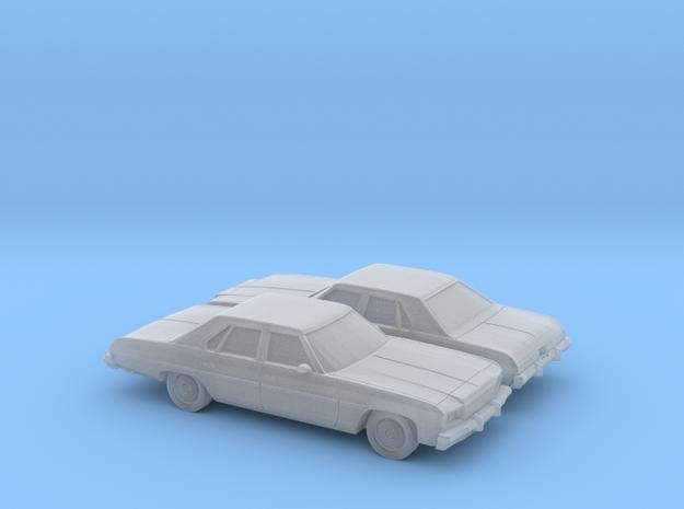 1/160 2X  1976 Chevrolet Impala Sedan in Smooth Fine Detail Plastic