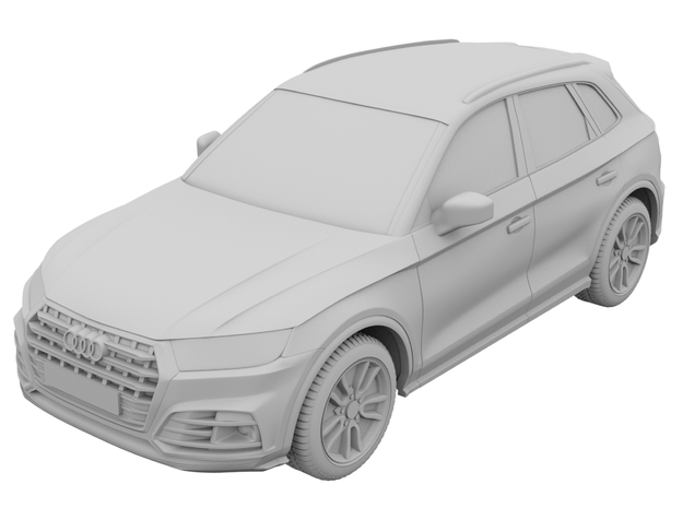 1-64 audi sq5 2017  in White Natural Versatile Plastic