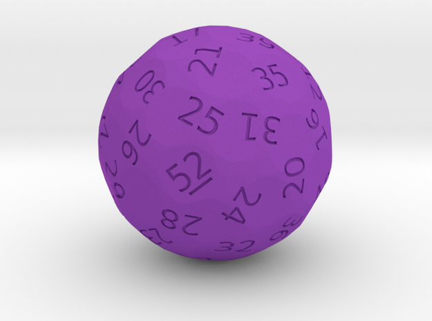 "d52 ""Week Picker"" in Purple Processed Versatile Plastic"