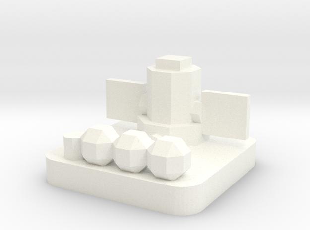 Mini Space Program, Nuclear Generator in White Processed Versatile Plastic