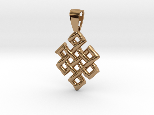 Endless Knot in Polished Brass