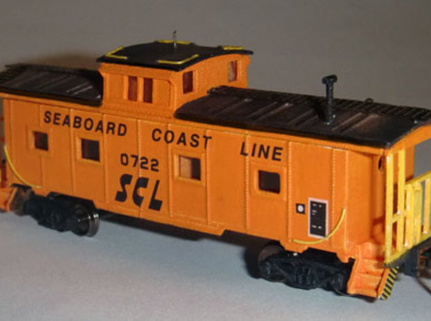 M-5 Caboose N Scale 1:160 in Smooth Fine Detail Plastic