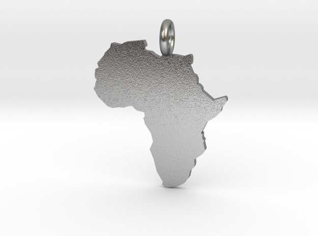 Africa - Pendant in Natural Silver