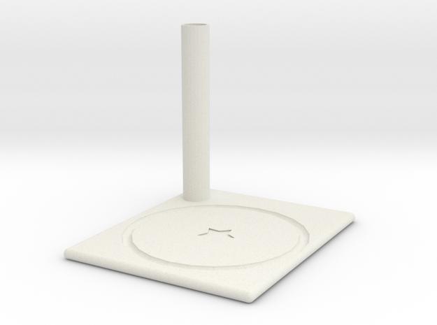 Coaster in White Strong & Flexible: Medium