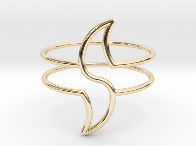 WAVE in 14k Gold Plated: Medium