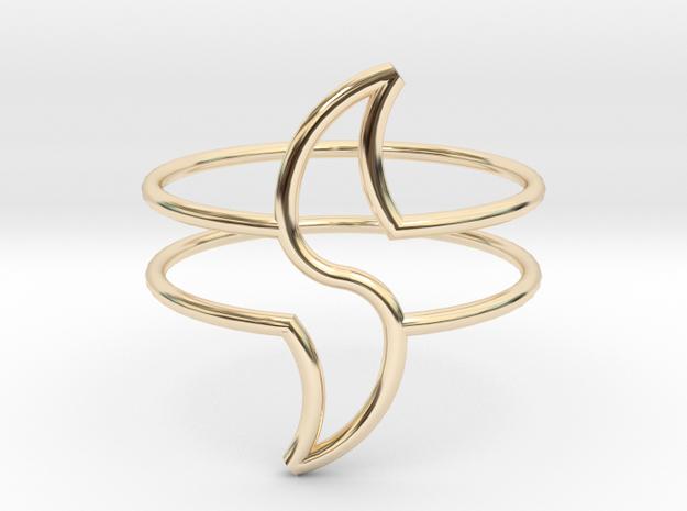 WAVE in 14k Gold Plated Brass: Medium