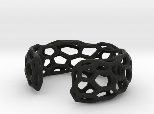 Lakatos Cuff in Black Natural Versatile Plastic: Small