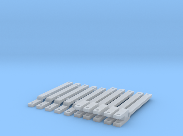 1/64 Drawbar 10 pack in Smooth Fine Detail Plastic