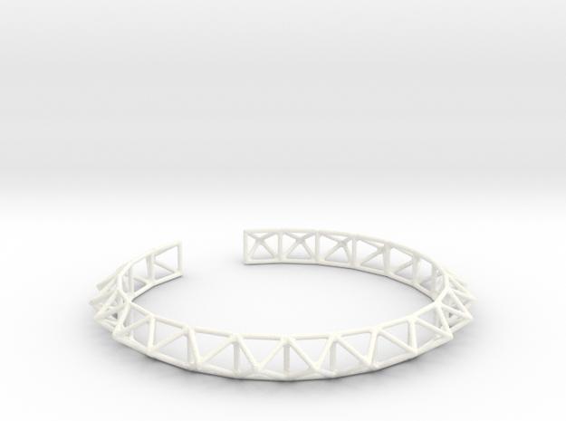 Echidna Collar in White Processed Versatile Plastic