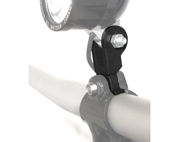 Brompton Stem Bracket Dynamo light Adapter in Black Natural Versatile Plastic