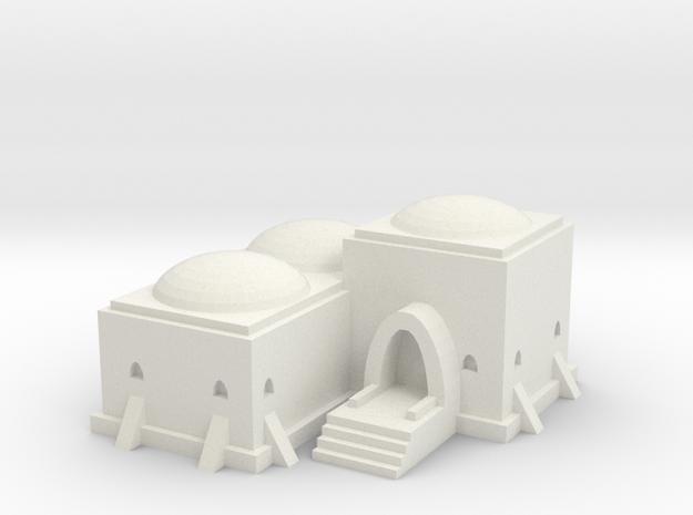 Tatooine Building 2 in White Natural Versatile Plastic