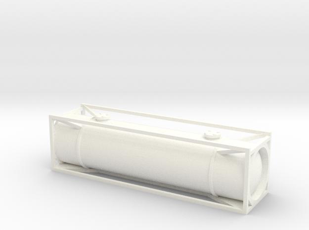 N Gauge Generic 30Ft Tank Container in White Processed Versatile Plastic