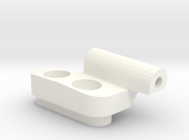 *NEW* - 5 Degree Reactive Right Front Susp Block in White Processed Versatile Plastic