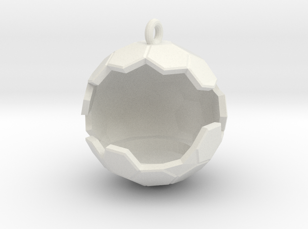 Geode Ornament in White Strong & Flexible