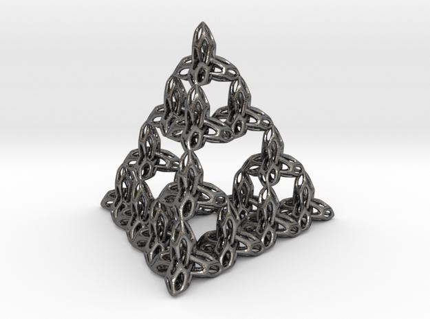 tetraedron-6 in Polished Nickel Steel