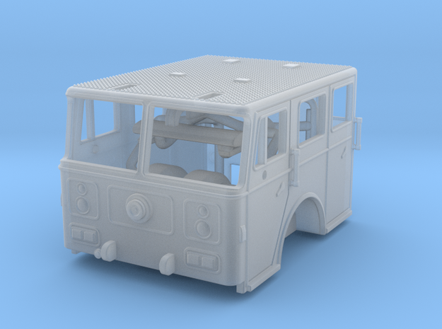 1/160 1991 Seagrave flat roof cab in Smooth Fine Detail Plastic