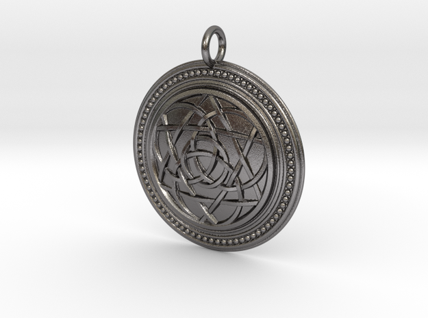 Codex of Ultimate Wisdom (Knotwork Version) in Polished Nickel Steel