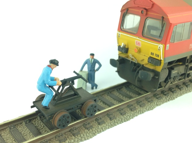 Hand Car/pump wagon OO/HO gauge in Smooth Fine Detail Plastic