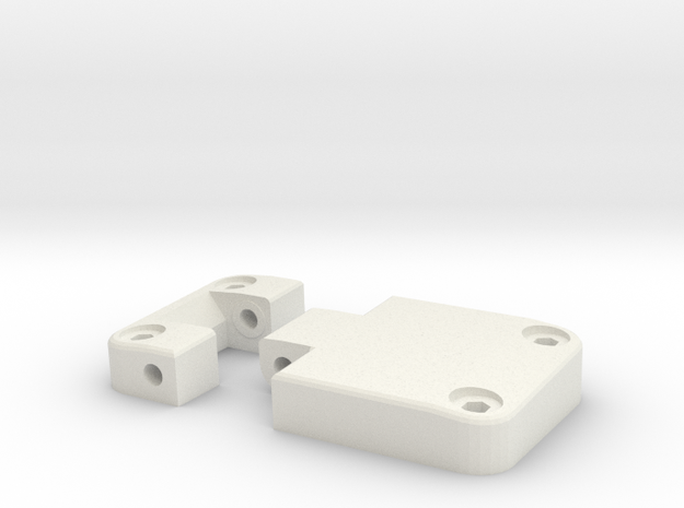 Functional door hinge right D90 D110 TRC 2/4 in White Natural Versatile Plastic