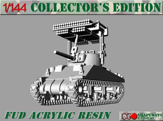 1:144 Sherman Calliope Rocket Launcher in Smooth Fine Detail Plastic