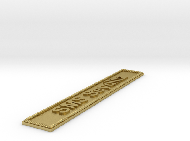 Nameplate: SMS Seydlitz in Natural Brass