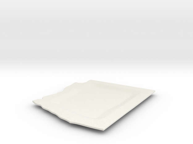Arizona plate in White Natural Versatile Plastic