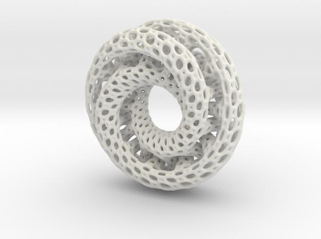Dual Mobius Plasmid in White Natural Versatile Plastic: Extra Small