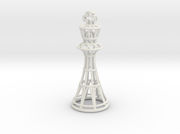 Hollow Chess Set - King in White Strong & Flexible