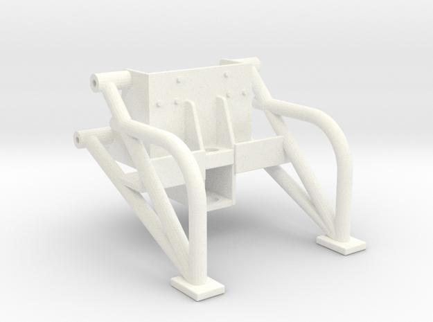 Universal Wheelie Bars in White Processed Versatile Plastic