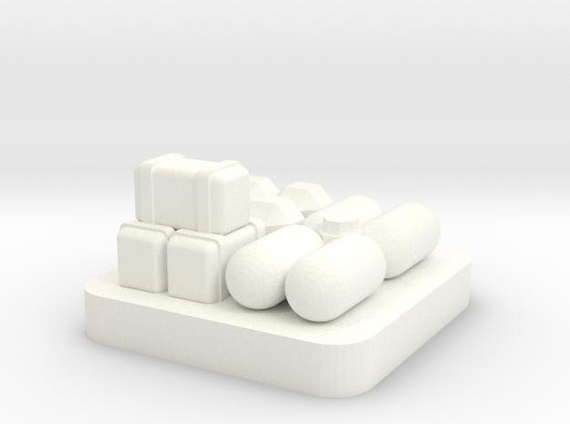 Mini Space Program, Base Storage in White Processed Versatile Plastic
