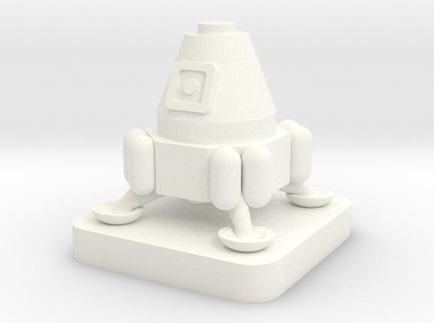 Mini Space Program, Ascent Vehicle in White Processed Versatile Plastic