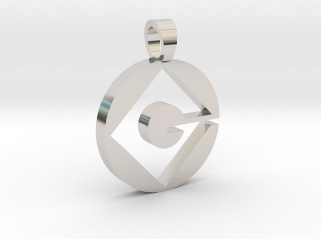 Gru Corp. [pendant]  in Rhodium Plated