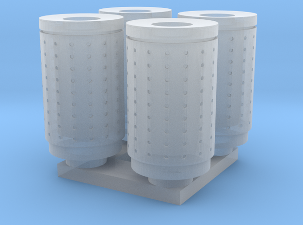 DSB 80L Affaldsbeholder (4stk) 1:160 in Smooth Fine Detail Plastic