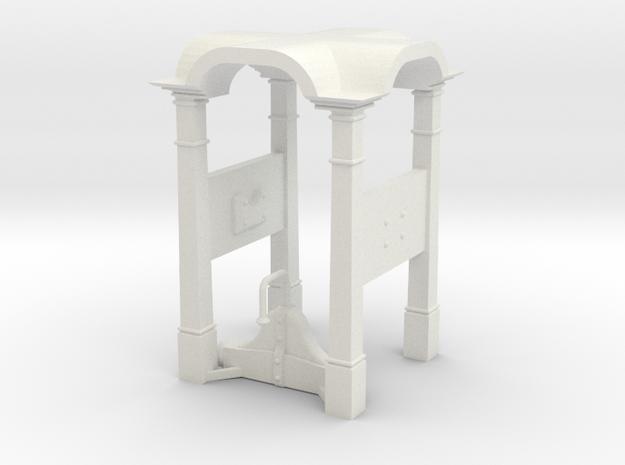 Belfry in 1:24 scale in White Natural Versatile Plastic