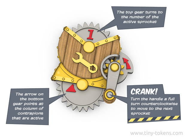 Crankable Sprocket Contraption for MTG Unstable