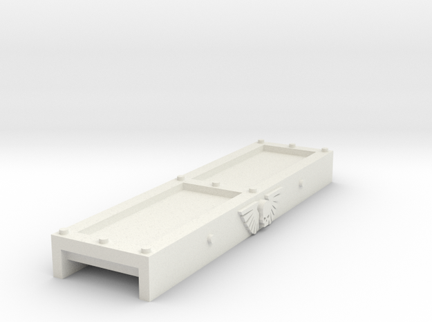 Track Guard (50mm long ID 10mm) russ compatible in White Natural Versatile Plastic